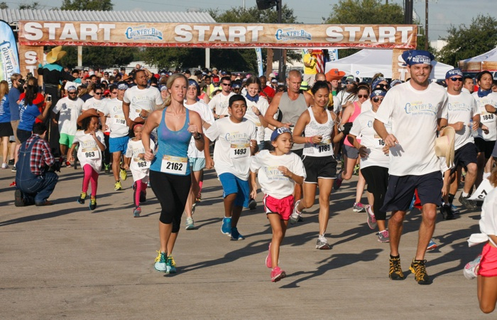 Runners zipped through the Corner Store Country Run's 5K Oct. 18 at NRG Park in Houston. Photo by John Everett.