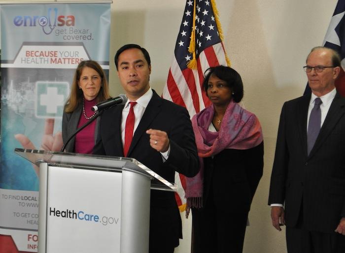 U.S. Rep. Joaquín Castro speaks at the Enroll SA event. Photo by Iris Dimmick.