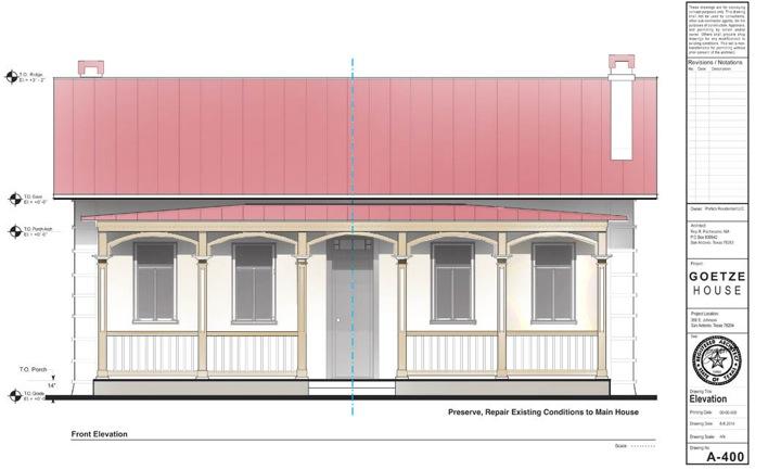 The Goetze House restoration drawing.