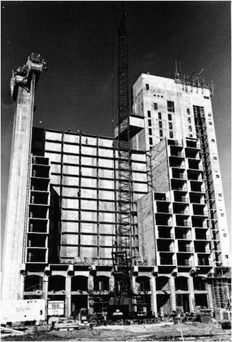 Construction of the Hilton Palacio del Rio Hotel. Courtesy photo.