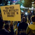 A protestor at the SATX4Ferguson protest. Photo by Scott Ball.