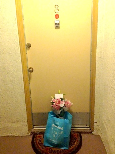 A delivery awaits an Instacart customer. Photo courtesy Instacart's Instagram. http://instagram.com/instacart