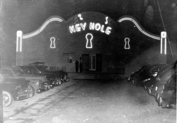 Historic photo of the Keyhole Club.