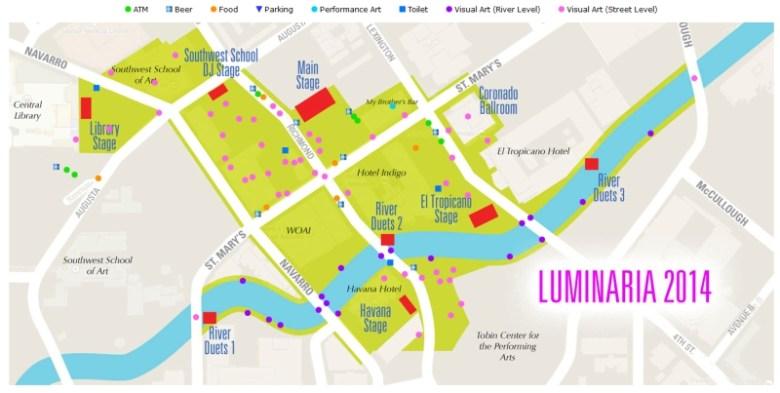 Map courtesy Luminaria.