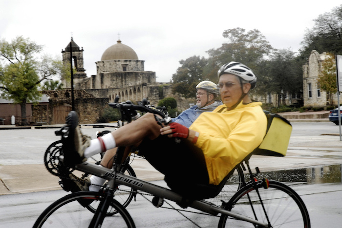 Recumbant bicyclists participate in the Mission to Mission Charity Bike Ride. Courtesy photo.
