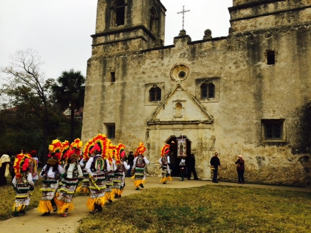 """La Danza de Matachines"" at Mission Concepción. Photo by Ivan Acevedo."