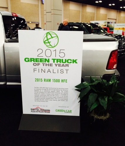 The 2015 Ram 1500 HFE was one of the five finalists in the Green Truck of the Year Award. Photo by Katherine Nickas.