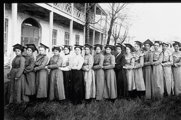 Historic photo of women attending the Ursuline Academy. Courtesy photo.