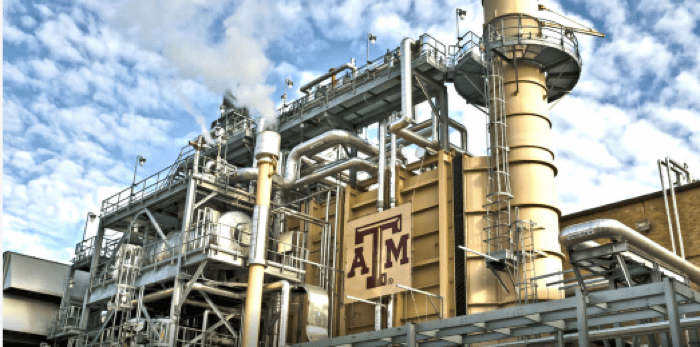 Combined heat and power at Texas A&M University. Photo by Troy Adams/Texas A&M University.