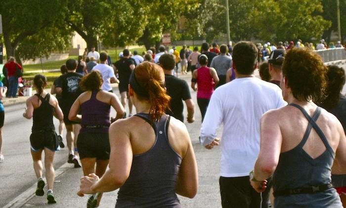 Marathon runners. Photo by Tom Trevino.
