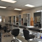 The cosmetology classroom at Brackenridge High School's Career and Technology Education building. Photo by Iris Dimmick.