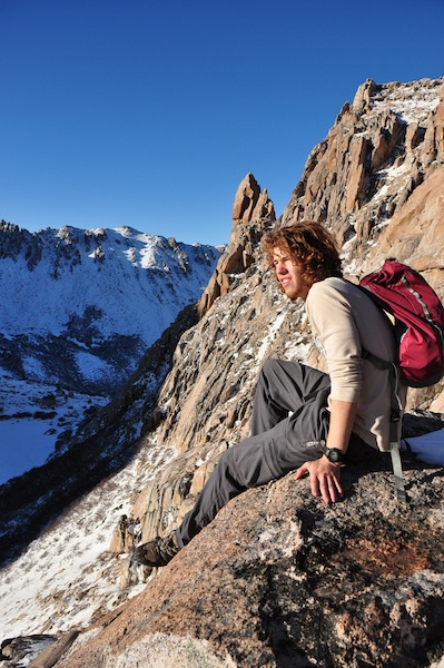 Everett Redus takes in a moment on Cerro Catedral mountain, Argentina. Photo by Cameron Redus.