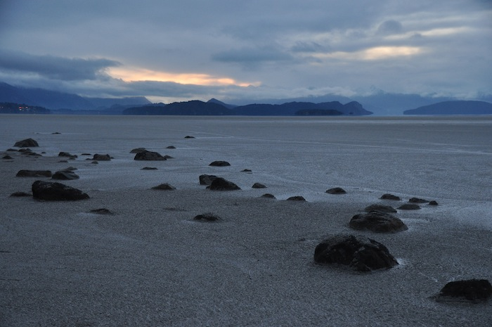 Lakes turned grey with ash in Argentina after the eruption of Puyehue volcano. Photo by Everett Redus.