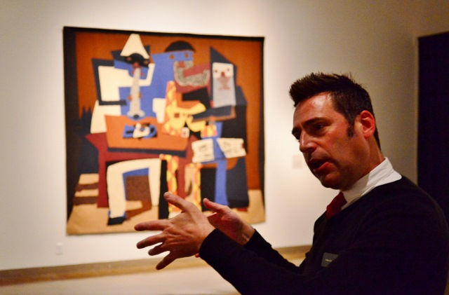 William Keyse Rudolph discussing Rockefeller's Picassos. Photo by Page Graham.