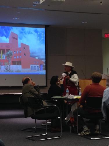 Jorge Cortez of Mi Tierra's speaks at the West Commerce Street Design Workshop. Photo by Sarah Gibbens.
