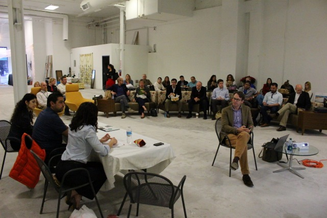 The number of attendees at the meeting indicates a keen interest in revitalizing downtown. Photo by Page Graham.