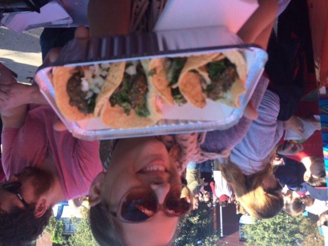 Enjoying the food at Tamales! Holiday Festival at Pearl. Photo by Jaime Solis.