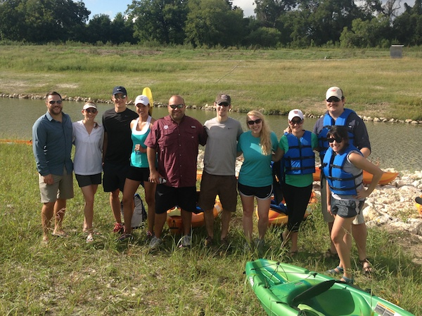 LOOP members kayak on the Mission Reach. Courtesy photo.