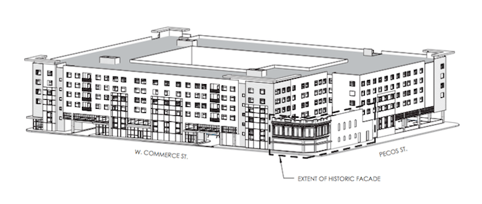 The Vitré development would include 242 residential units. Image courtesy of 210 Developers and STG Design.