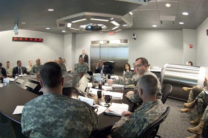 U.S. Army Cyber Command in Fort Belvoir, Va. U.S. Army Cyber Command is the newest Army Service Component Command. U.S. Army photo by Spc. John G. Martinez.