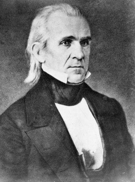 """U.S. President James K. Polk had his eyes on the Pacific Ocean and """"Manifest Destingy"""" when he offered to buy the Trans-Nueces region and the rest of northern Mexico after the 1845 annexation of Texas. He eventually acquired the land by force of arms following the Mexican-American War."""