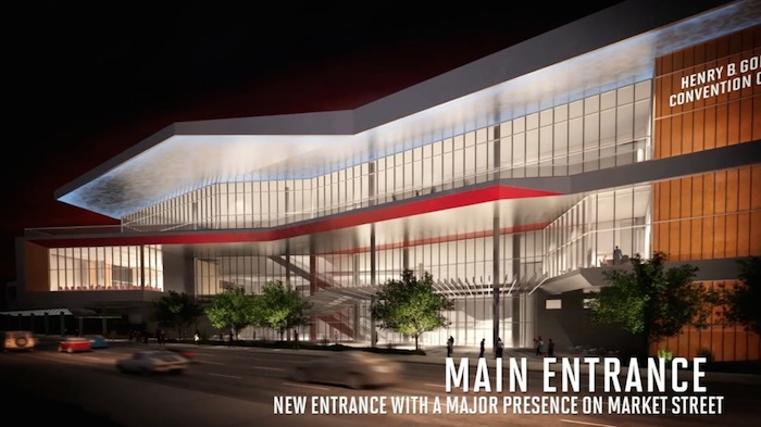 Convention Center's future main entrance on Market Street. Rendering courtesy of the City of San Antonio.
