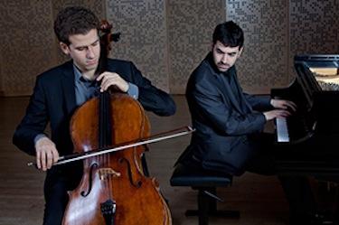 Cellist Nicholas Cannelakis and pianist/composer Michael Brown. Courtesy photo.
