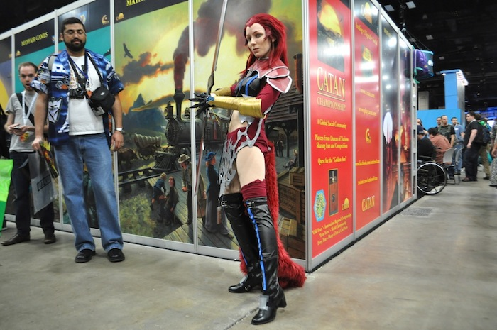 Cosplay: Rosa the Crimson from Final Fantasy 7 during PAX South. Photo by Iris Dimmick.