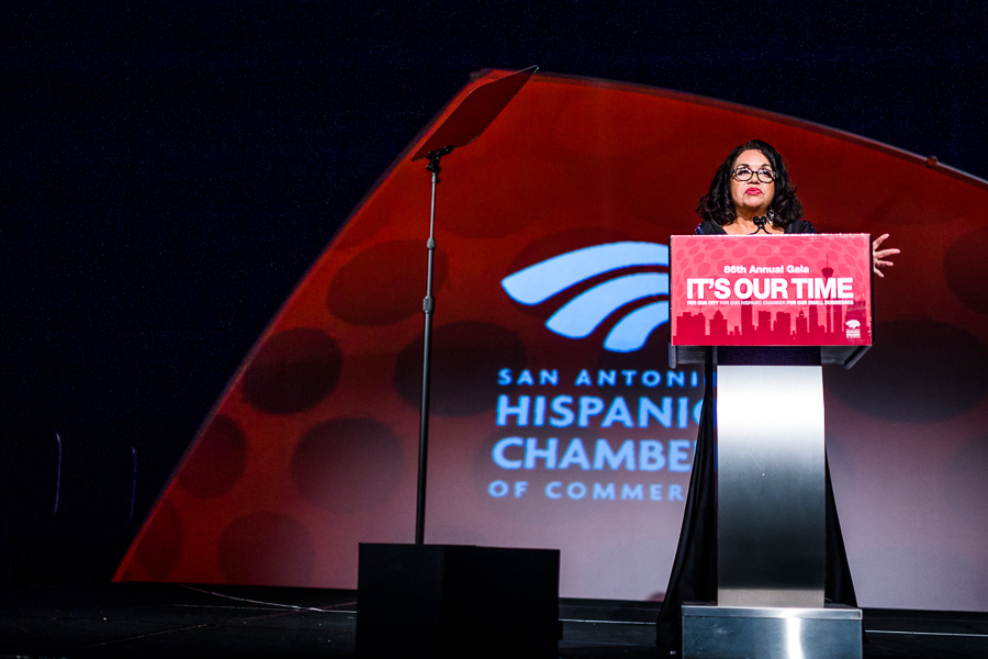Patricia Stout, a former board chair, at the 86th annual San Antonio Hispanic Chamber of Commerce gala. Photo by Scott Ball.