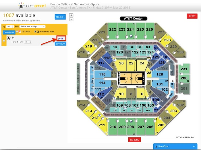 Spurs tickets available for $444 at SeatSmart. Lily Casura