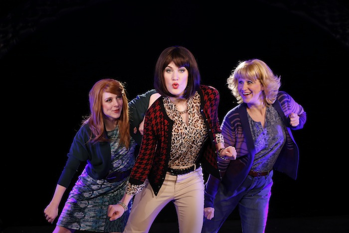"""New York cast of """"50 Shades! The Musical Parody"""" includes Kaitlyn Frotton, Chloe Williamson and Ashley Ward. Photo by Carol Rosegg."""