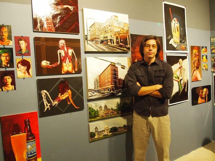 Abraham Vazquiez in his studio. Photocourtesy of Bihl Haus Arts.