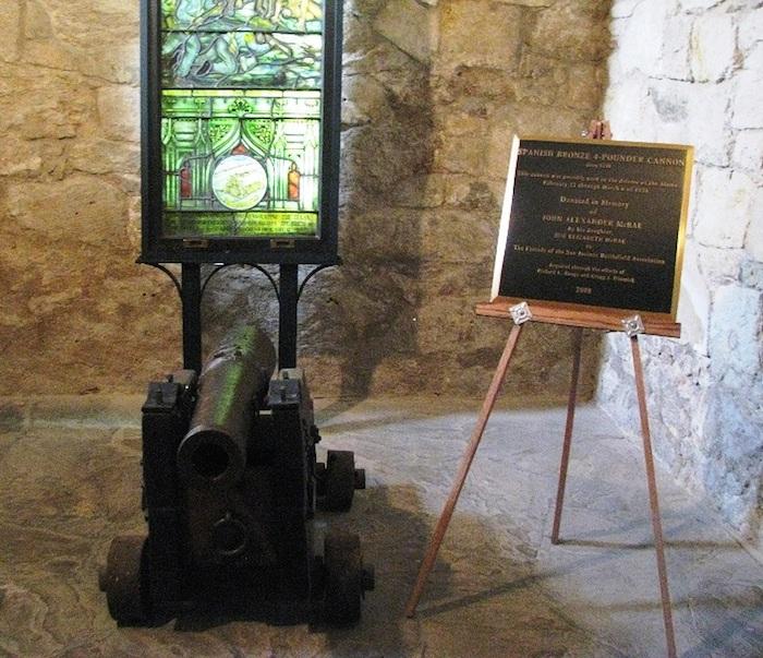 McRae cannon inside the Alamo. Photo provided by Kameron Searle.