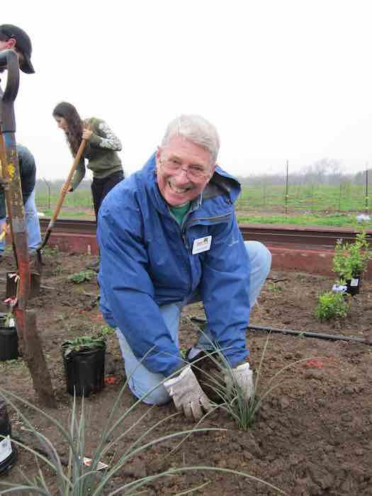 Landscaper Charles Bartlett, an avid volunteer for all things green. Photo by Karen Stamm.