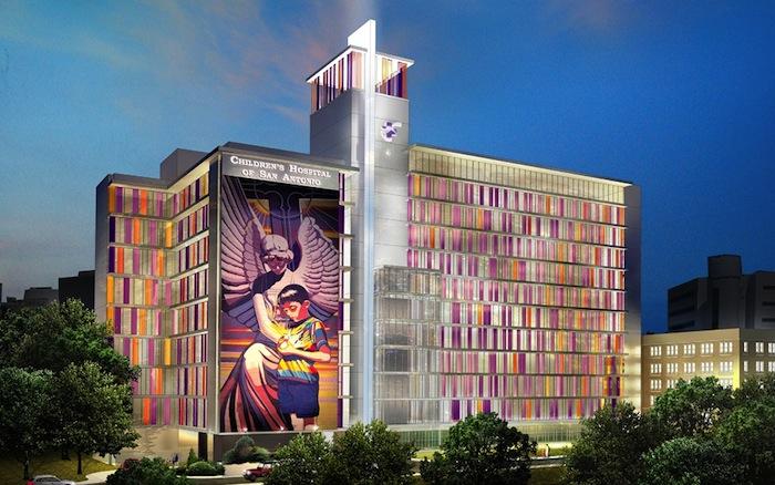 Rendering of Christus Santa Rosa Health System's new Children's Hospital of San Antonio. Courtesy image.