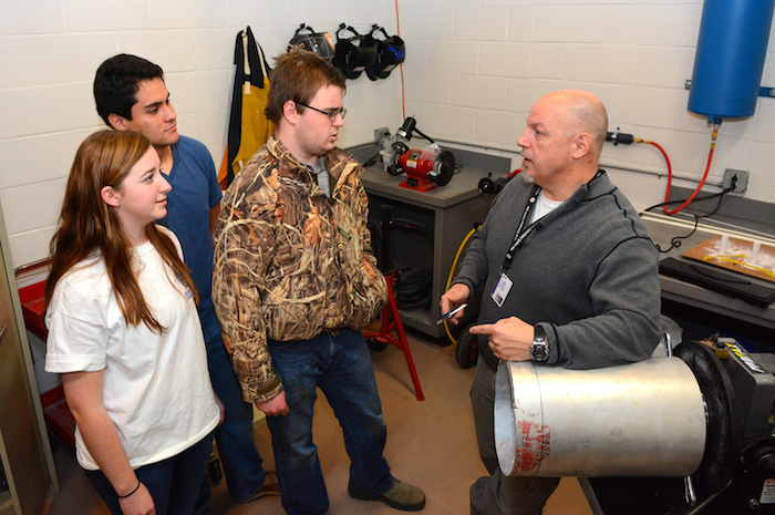 Colin Lang teaches rocketry at Alamo Heights HS. Courtesy photo.