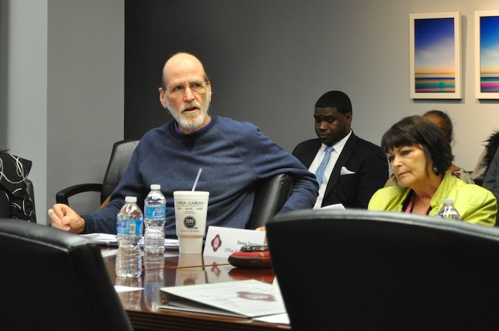 Rod Radle, gentrification task force member and long-time community organizer, addresses the City Council Quality of Life Committee. Photo by Iris Dimmick.
