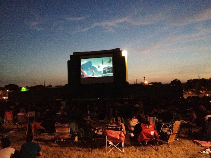 The 1940's era Mission Drive-in screen was recently restored and is a walk-in venue. Courtesy photo.