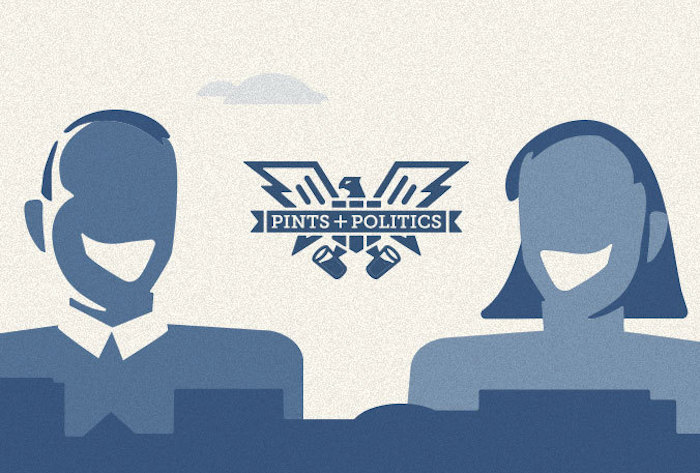 Pints & Politics graphic design by Heavy Heavy. http://heavyheavy.com/