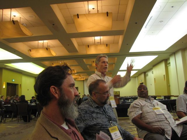Director Robert Maggiani speaks during the Texas Organic Farmers and Gardeners Association conference in San Antonio. Photo courtesy of Joel Morton/Farm Aid.