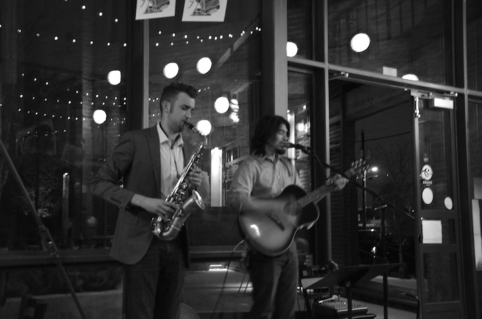"""Adam Tutor and Odie Wallace form the duo """"Slim Pickins"""" at Rosella. Photo by Gretchen Greer."""