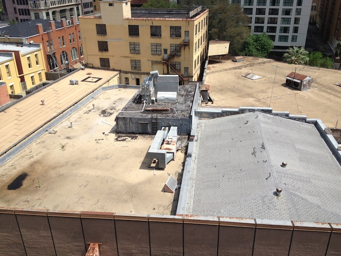 The Solo-Serve building roof last year, when Slab Cinema was looking into hosting a movie screening (it ultimately didn't work out). Photo by Angela Martinez.