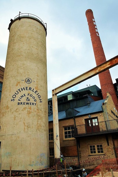 Southerleigh Fine Food and Brewery is a brewpub that has integrated much of the old Pearl Brewery building into its contemporary design. The brewpub will open to the public in March 2015. Courtesy photo.