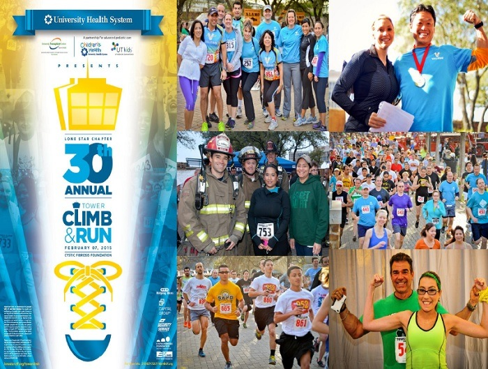 Flyer for the Lone Star Tower Climb and Run courtesy of the Cystic Fibrosis Foundation.