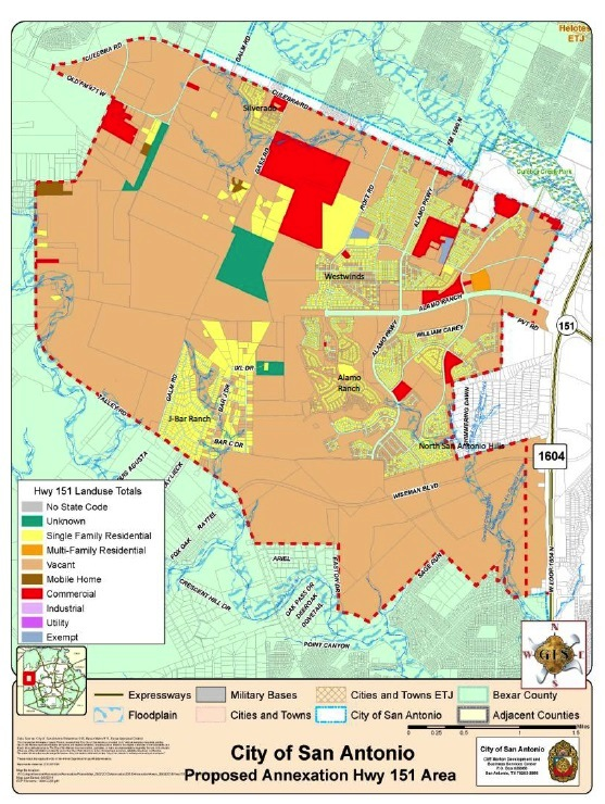 area map alamo ranch annexation