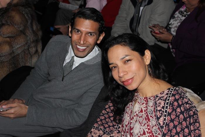 Suhail Arastu and Xelena Gonzalez soak in the hilarious splendor front row at the Aztec Theatre. Photo by Adam Tutor.