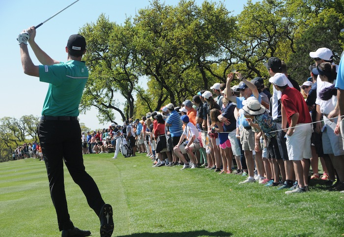 Boerne native Jimmy Walker aims for the green on the way to winning the 2015 Valero Texas Open at the JW Marriott TPC San Antonio. Photo by Kristian Jaime.