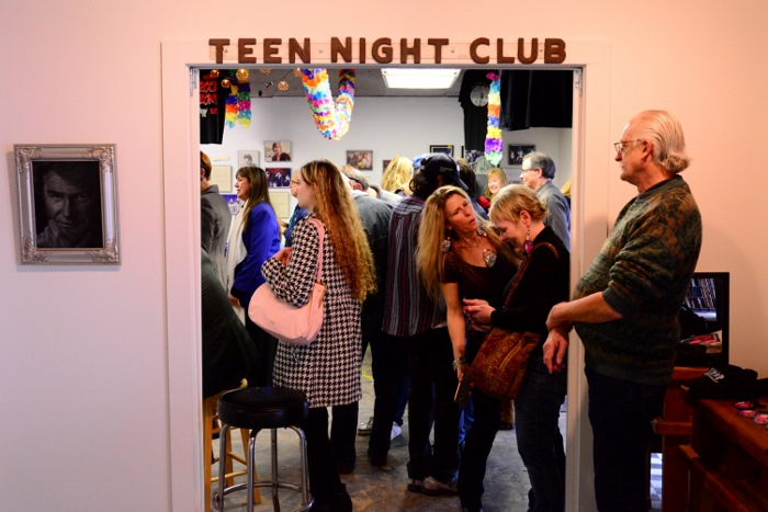 Guests mingle at a Tex Pop event, March 8, 2015. Photo by Page Graham.