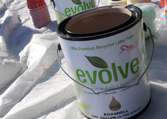 Eco-friendly supplies were used during the EastPoint Shine Paint-A-Thon. Photo by Kristian Jaime.