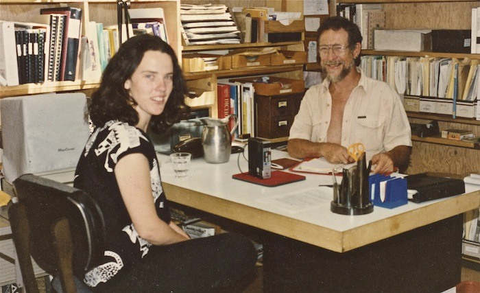 Vintage photo of Julia Martin and Gary Snyder. Photo by Carole Koda.